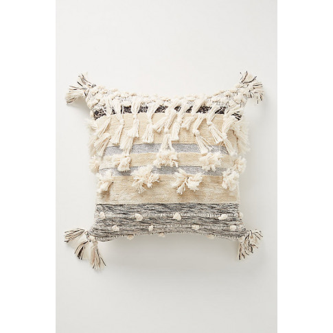 All Roads Yucca Cushion - White, Size 20 In Sq