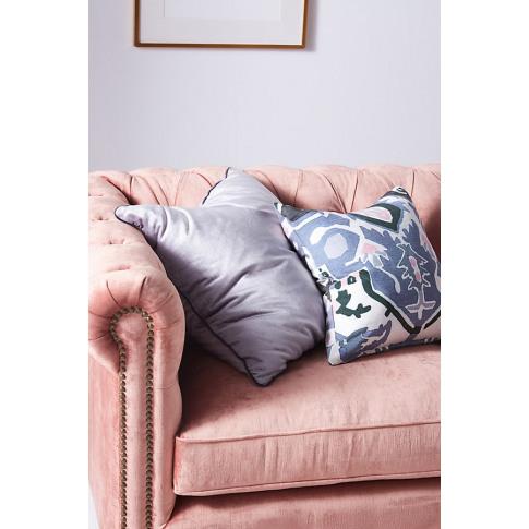 Adelina Velvet Cushion - Silver, Size King Bfrm