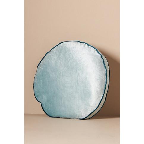 "Adelina Velvet Cushion - Blue, Size 18"" Sq"