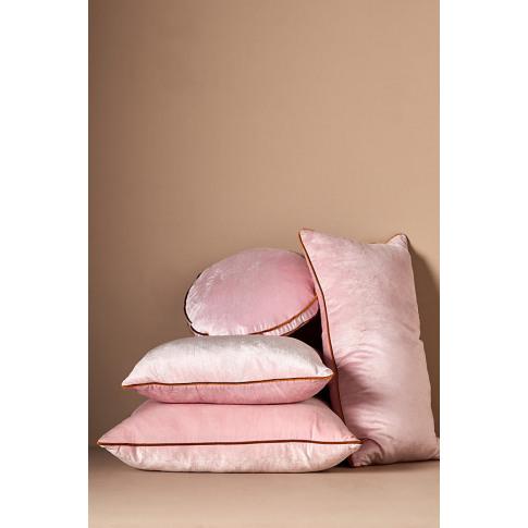 Adelina Velvet Cushion - Orange, Size King Bfrm
