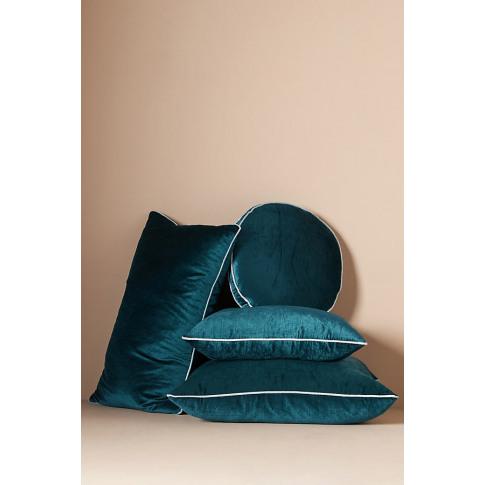 Adelina Velvet Cushion - Blue, Size King Bfrm