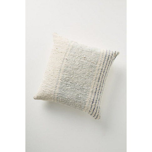 Handwoven Dylan Cushion - Blue, Size 20 In Sq