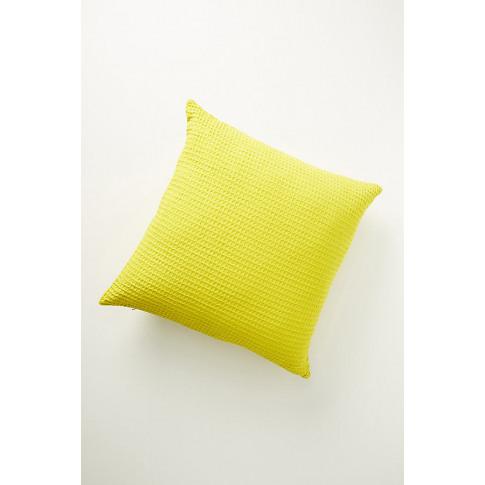 """Woven Waffle Cushion - Green, Size 24"""" X 24"""""""
