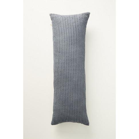 Woven Waffle Cushion - Blue, Size Rectangle