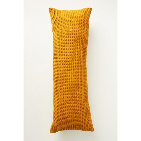 Woven Waffle Cushion - Orange, Size Rectangle