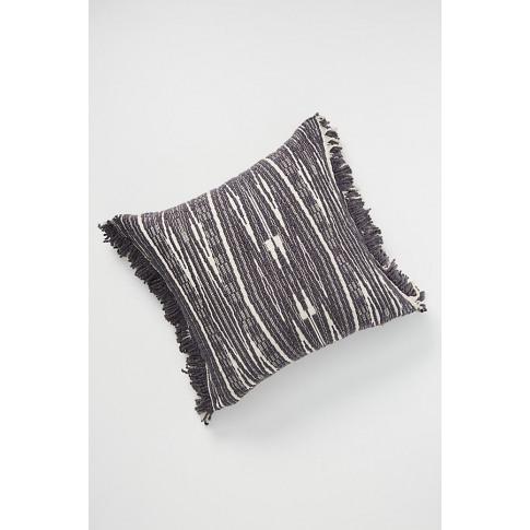 Textured Kadin Cushion - Grey, Size 20 In Sq
