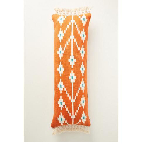 Handwoven Saffron Cushion