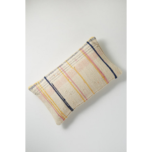 Chindi Osmington Stripe Cushion - White