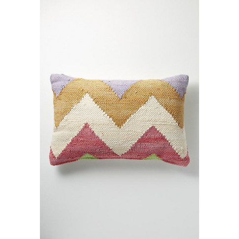 Chindi Zig Zag Cushion - Pink