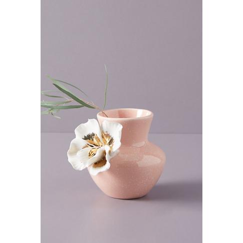 Gilded Bloom Vase - Pink, Size S