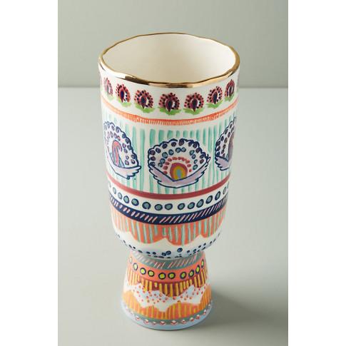Painted Elza Vase - Purple, Size L