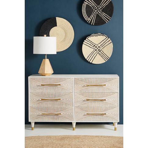 Carved Thalia Six-Drawer Dresser