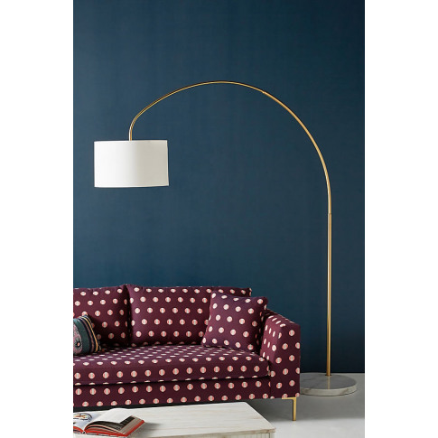 Brass Arch Floor Lamp - Gold, Size Xl
