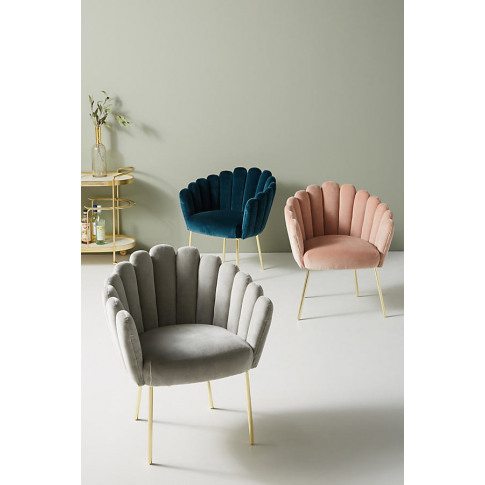 Bethan Gray Feather Collection Dining Chair - Grey
