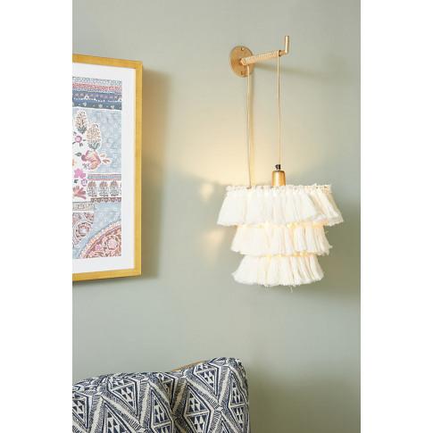 Fela Tasselled Wall Light - White