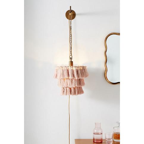 Fela Tasselled Wall Light - Pink
