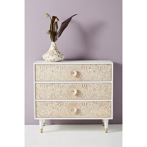 Gulliver Three-Drawer Dresser - White