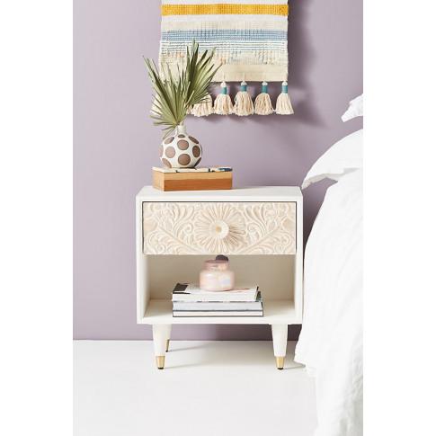 Gulliver Storage Bedside Table - White