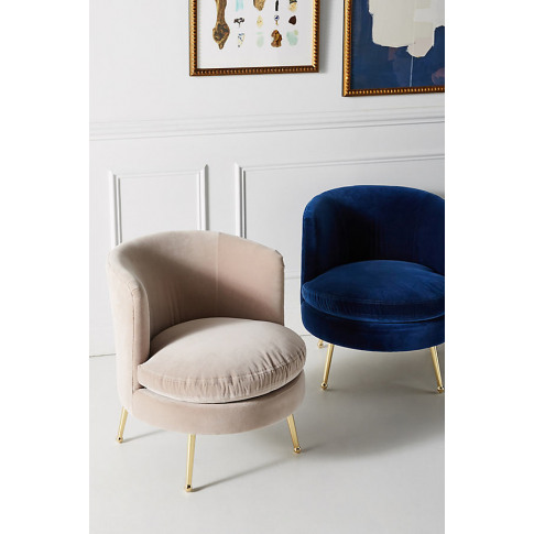 Cynthia Petite Accent Chair - Navy