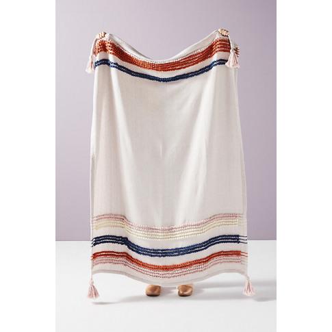 Woven Stripe Throw Blanket - Assorted