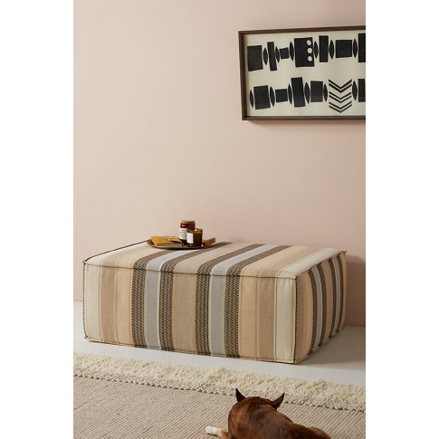 Brody-Striped Clive Ottoman - Assorted, Size S