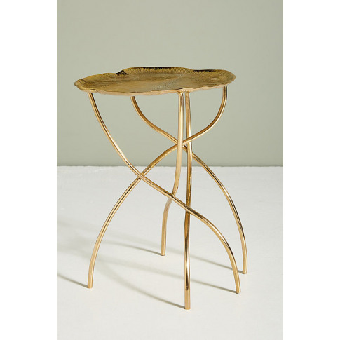 Lily Pad Side Table - Brown