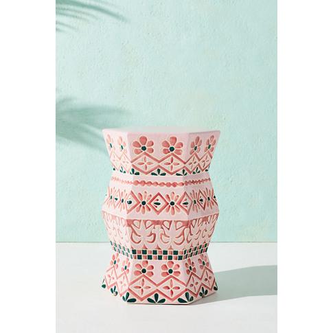 Vallarta Indoor/Outdoor Stool - Pink