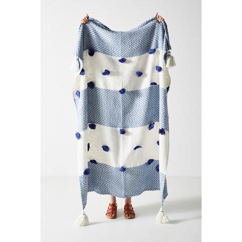 Woven Zohra Throw Blanket - Blue