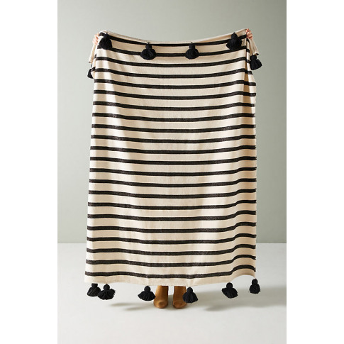 Woven Nayland Throw Blanket - Black