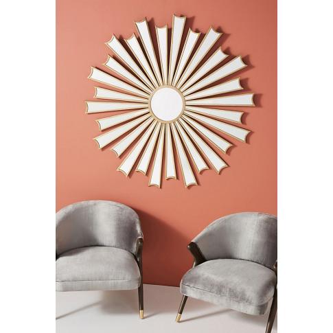 Starburst Deco Mirror - Brown, Size M