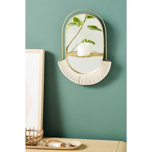 Hira Decorative Wall Mirror - White