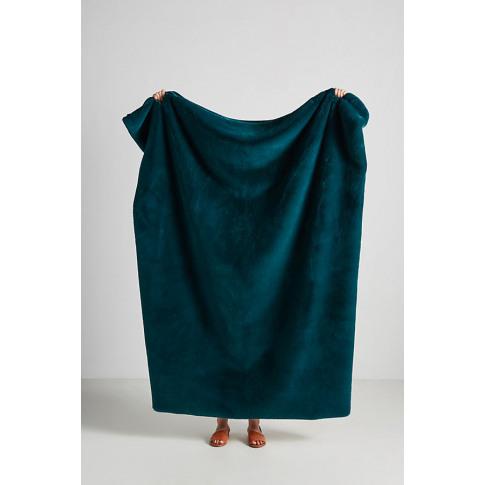 Sophie Faux Fur Throw Blanket - Blue