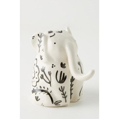 Alex Sickling Elephant Bud Vase - White