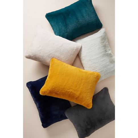 """Sophie Faux-Fur Cushion - Orange, Size 14"""" X 20"""""""