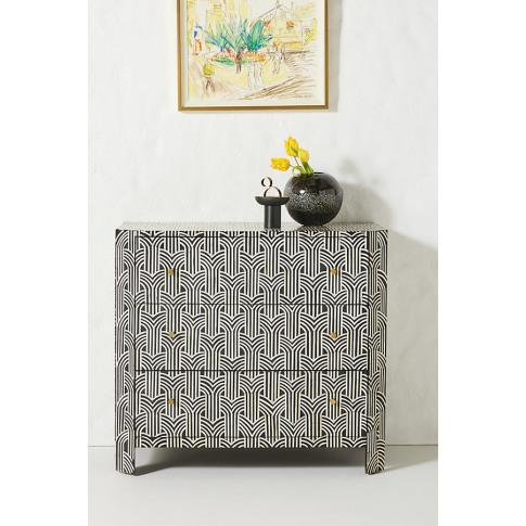 Deco Inlaid Dresser - Black