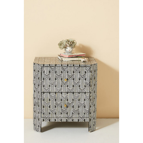Deco Inlaid Bedside Table