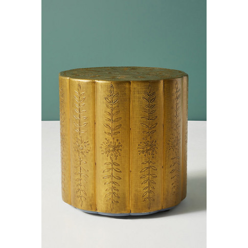 Embossed Scalloped Side Table