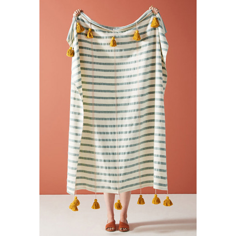 Woven Nelly Throw Blanket - Blue