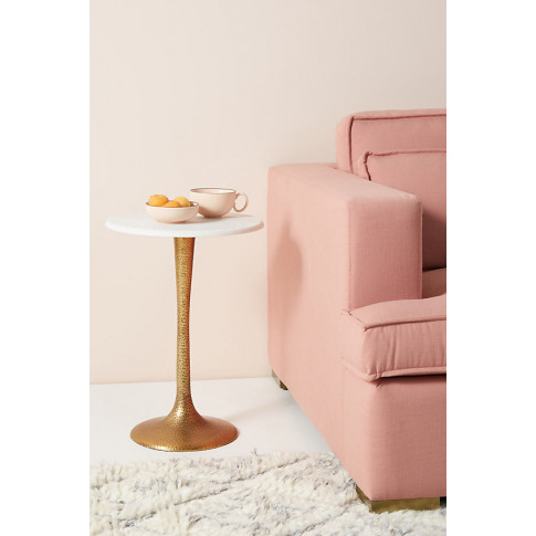 Tulip Bistro Side Table - Gold