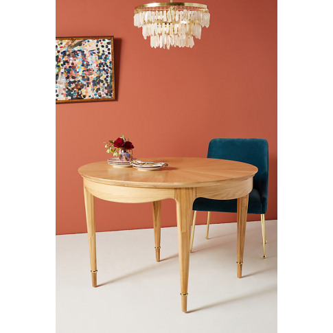 Starburst Marquetry Dining Table - Beige