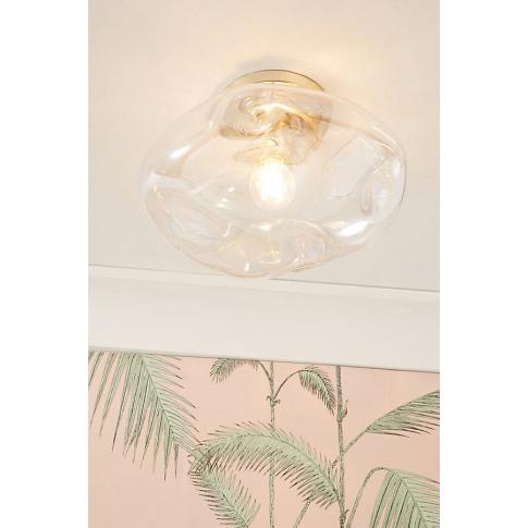 Mckenzie Iridescent Flush Ceiling Light - Assorted