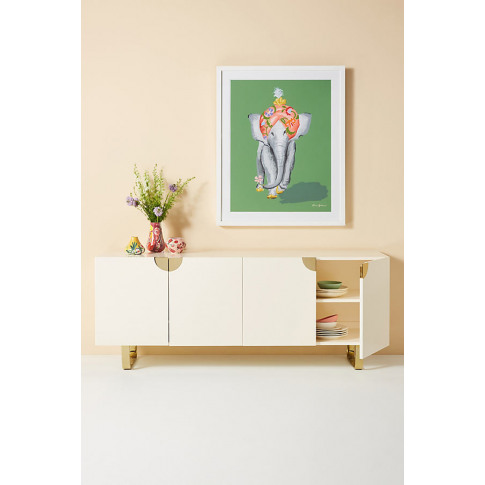 Lacquered Glinda Sideboard - Beige