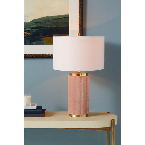 Marilyn Velvet Table Lamp - Pink, Size M