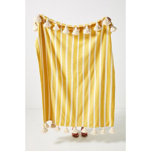 Soho Home X Anthropologie Tiera Throw Blanket - Yellow