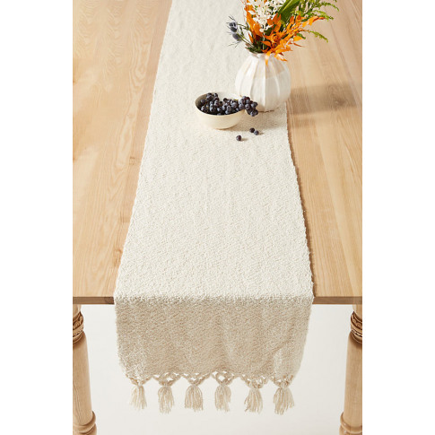 Everest Table Runner - Beige, Size Runner