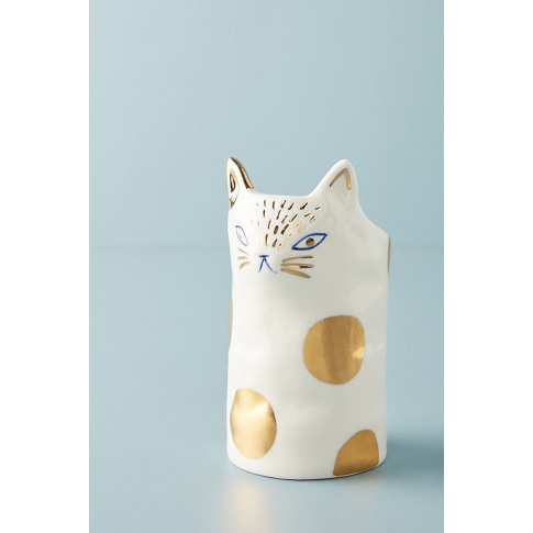 Bird Can Fox Cat Planter - Gold, Size L