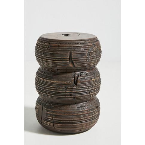 Dita Stump Side Table - Brown