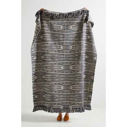 Textured Kadin Throw Blanket - Grey
