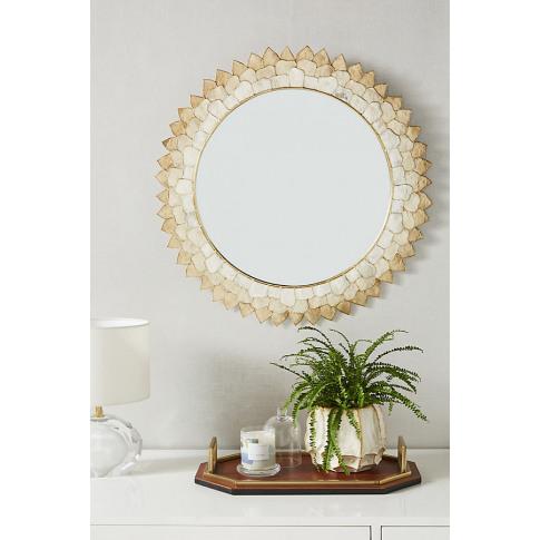 Penny Ombre Capiz Mirror