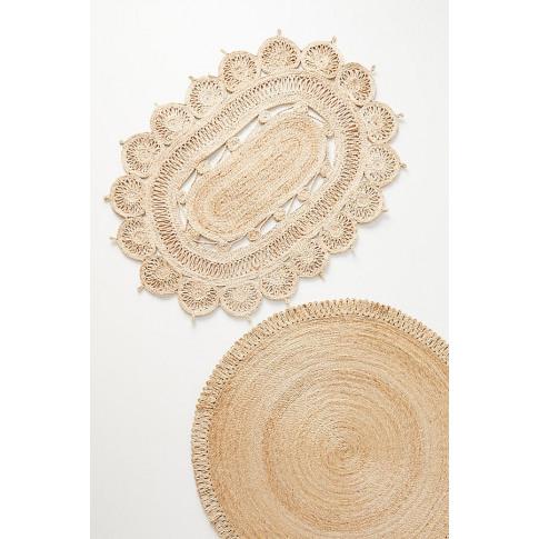 Round Jute Doormat - Assorted